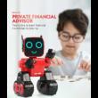 JJRC R4 CADY WILE RC intelligens távirányítós játék robot 25.5cm interaktív programozható okosrobot (intelligens hang,- érintésvezérléssel) - piros