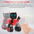 JJRC R4 CADY WILE RC Robot 25,5cm interaktív programozható okosrobot (intelligens hang,- érintésvezérléssel, távirányítós játék) - piros