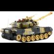 BT T90 orosz T-90 2.4GHz 1:16 40cm távirányítós játék infra csata tank harckocsi (tankcsata életerővel RC RTR Brother Toys No. 9995) - barna terepszínű