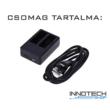 SJCAM akció kamera dupla akkumulátor töltő keret USB SJ4000 SJ5000 Wifi SJ5000X M10 X1000 SJ-TKD2