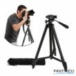 """Innotech ZY-335 1200 mm Ultra könnyű alumínium teleszkópos állvány tripod kamerákhoz fényképezőgéphez (professzionális kamera statív libella 1/4"""" szabvány csatl)"""