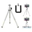 """Innotech teleszkópos állvány (tripod) akciókamerákhoz és kisebb fényképezőgépekhez, kamerákhoz (1/4"""" szabvány csatlakozás) + Állítható telefon tartó"""