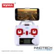 SYMA X5HW drón quadcopter (X5HW-1) élőképes FPV wifi kamerával + légnyomás érzékelő automata magasságtartás (fehér)