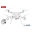 SYMA X5SC drón quadcopter HD kamerával (X5SC 1 X5SC-1 720P HD RC kamerás drón plusz 4 GB microSD kártya) - fehér