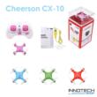 Cheerson CX-10 nano drón quadcopter (magyar útmutatóval CX 10 hobby mini drone, rc nano quadrokopter, beltéri szoba drón) - narancssárga