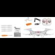 Syma X5UW-D Wifi FPV élőképes kamerás drón quadcopter (720p HD FPV kamerával, magyar nyelvű útmutatóval) - fehér