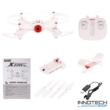 Syma X23W Wifi FPV élőképes kamerás drón quadcopter 21cm 720p HD kamerás drón automata magasságtartással magyar útmutatóval - fehér