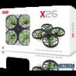 Syma X26 drón quadcopter 13.1cm 2.4GHz (magyar útmutatóval akadályelkerülő funkcióval) - zöld
