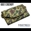 GGX-F7W4I 7,2W monocrystalinne napelemes profi hordozható összecsukható solar töltő (GGX Energy GGX F7W4I USB 5V 1.2A (max) 54.5x17cm) - zöld terepszínű