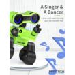 JJRC R13 CADY WIRI RC Robot programozható interaktív okosrobot (magyar útmutatóval intelligens hang,- érintésvezérléssel,  távirányítós játék) - zöld