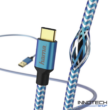 Hama Reflective usb type-c adat kábel 1,5m - kék (178295)