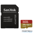 SanDisk Extreme microSDXC 128 GB memóriakártya (100MB/s 667X) + adapter, UHS-1 U3 V30 4K UHD A1 ( SDSQXAF-128G-GN6MA micro SD XC)