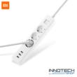 Xiaomi Mi Power Strip túlterhelés védett hosszabbító hálózati elosztó + 3 x USB gyorstöltő 1,4 m XMCXB04QM fehér