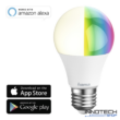 Hama okos led izzó Wifi E27 rgb 10 W - szabályozható smart égő - 16 millió szín 75 W egyenértékű (176531)