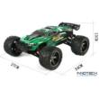 XLH 9116 profi Truggy Racer 2WD 40km/h nagy sebességű 1:12 34cm RC távirányítós autó (40 km/h Truggy Racer versenyautó) - zöld BEMUTATÓ DARAB