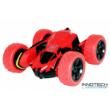 HB-2801 átfordulós kaszkadőrautó RC Stunt Car 2WD 12km/h sebességű 1:28 14.5cm távirányítós játék autó (HB 2801) - piros