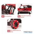 NQD 1:16 Drift Climber Rock Crawler Buggy 4WD 20km/h 26cm RC távirányítós sziklamászó off road dancer táncos játék autó 2.4GHz 757-C333 RTR - piros