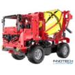 Double Eagle távirányítós építőkészlet játék szett 2in1 betonkeverő / emelő teherautó (814 db, 41.0 cm 2.4GHz) RC munkagép EE Double E CaDa (C51014W) (lego technic kompatibilis)