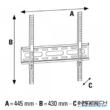 Hama 400 x 400 falitartó 1 cs fix (fali LCD TV tartó konzol) (108770)