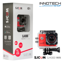 SJCAM SJ4000 WIFI akció kamera sportkamera 2 colos kijelzővel gyári kiegészítőkkel (piros)
