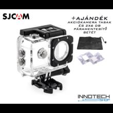 SJCAM SJ4000 , SJ4000 WIFI , SJ4000+ gyári akció kamera vízálló ház tok SJ-VT plusz ajándék tasak és 2x6 páramentesítő betét