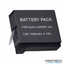 1600 mAh Li-ion tuning akku akkumulátor GoPro Hero 4 akciókamerákhoz (AHDBT-401 AHDBT 401)
