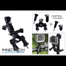 SJCAM / GoPro akció kamera kerékpár motor kormány váz toldószettes rögzítő tartó SJ/GP-02 SJ GP-02