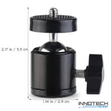 SJCAM / SONY / GoPro akció kamera masszív fémvázas gömbcsuklós rögzítő tartó adapter 1/4 col szabvány