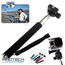 SJCAM / GoPro akció kamera teleszkópos selfie szelfi bot monopod fekete extra nagy 1,1 m SJ/GP-61 Fekete