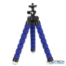 """Univerzális állvány octopus tripod mini állvány akciókamerákhoz és kisebb fényképezőgépekhez, kamerákhoz (1/4"""" szabvány csatlakozás) -  kék"""