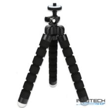 """Univerzális állvány octopus tripod mini állvány akciókamerákhoz és kisebb fényképezőgépekhez, kamerákhoz (1/4"""" szabvány csatlakozás) - fekete"""