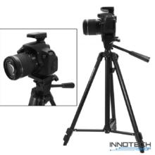 """Innotech ZY-3410 1320 mm Ultra könnyű alumínium teleszkópos állvány tripod kamerákhoz fényképezőgéphez (professzionális kamera statív libella 1/4"""" szabvány csatl)"""