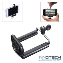 Innotech telefon tripod monopod kiegészítő rögzítő tartó adapter 1/4'' szabvány állvány csavar csatlakozással