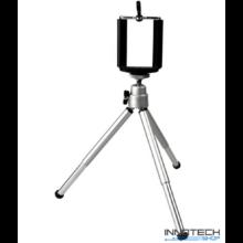 """Teleszkópos állvány (tripod) akciókamerákhoz és kisebb fényképezőgépekhez, kamerákhoz (1/4"""" szabvány csatlakozás) + Állítható telefon tartó"""