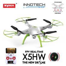 SYMA X5HW drón quadcopter (magyar útmutatóval, X5HW-1) élőképes FPV wifi kamerával + légnyomás érzékelő automata magasságtartás (fehér)