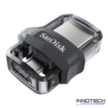 SanDisk Dual Drive m3.0 16 GB USB micro USB pendrive mobil memória 130 MB/s (SDDD3-016G-G46) (173383)