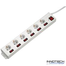 Hama hálózati elosztó 6-os XL külön kapcsolható fehér 1,4 m (137239)