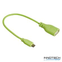 Hama micro usb - otg adapter adat kábel - zöld (135706)