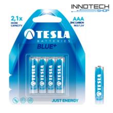 Tesla Batteries Blue+ AAA féltartós mikro ceruza elem (Blue Plus, micro, R03, 1,5V) - 4 db / csomag