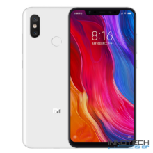 Xiaomi Mi 8 128GB 6GB RAM DualSim kártyafüggetlen okostelefon (Mi8 6 GB / 128 GB 4G LTE Dual Sim mobiltelefon magyar menü) - Fehér