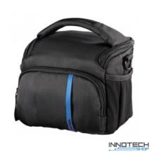 Hama Nashville 110 fotós táska 15,5x10x13 cm fekete - kék (121863)