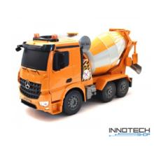 Mercedes-Benz Arocs betonkeverő teherautó 1:20 távirányítós RC játék munkagép Double Eagle E528-003 RTR Double E