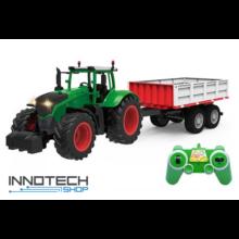 Távirányítós óriás traktor 71 cm 1:16 RC játék munkagép Double Eagle E354-003 RTR Double E