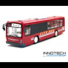 Távirányítós piros játék busz 33 cm x 8 cm x 8,8 cm Double Eagle E635-003-RED RTR