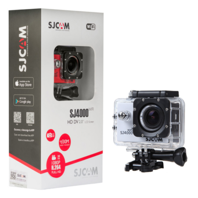 SJCAM SJ4000 WIFI akció kamera sportkamera 2 colos kijelzővel gyári kiegészítőkkel (ezüst) (SJ4000WS)