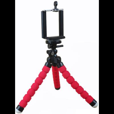 """Innotech univerzális állvány octopus tripod (piros) mini állvány akciókamerákhoz és kisebb fényképezőgépekhez, kamerákhoz (1/4"""" szabvány csatlakozás) + Állítható telefon tartó"""