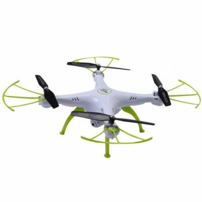 SYMA X5HW drón quadcopter élőképes FPV wifi kamerával + légnyomás érzékelő automata magasságtartás - fehér - BEMUTATÓ DARAB