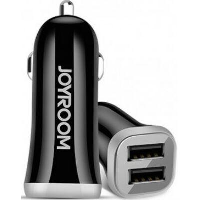 Joyroom C-M216 3.1A 2xUSB Autós Töltőfej + Micro USB 1M Adatkábel - Fekete