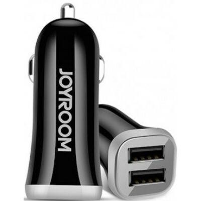Joyroom C-M216 3.1A 2xUSB Autós Töltőfej + USB Type-C 1M Adatkábel - Fekete