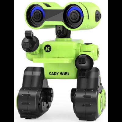 JJRC R13 CADY WIRI RC Robot 24cm programozható interaktív okosrobot (intelligens hang,- érintésvezérléssel,  távirányítós játék) - zöld